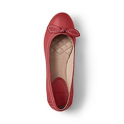 Lands' End - Red bow ballet shoes