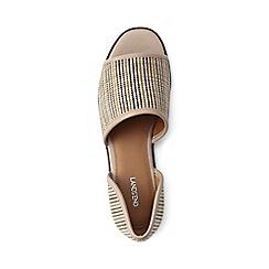 Lands' End - Beige peep-toe flat shoes
