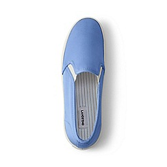 Lands' End - Blue slip-on trainers