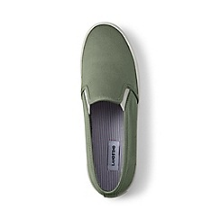 Lands' End - Green slip-on trainers