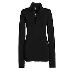 Lands' End - Black leisure sport speed half zip jacket