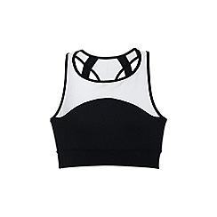 Lands' End - Black leisure sport speed long bra