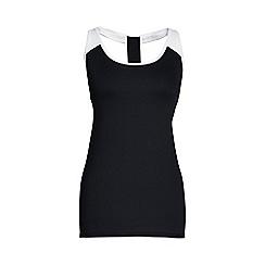 Lands' End - Black leisure sport studio support vest top
