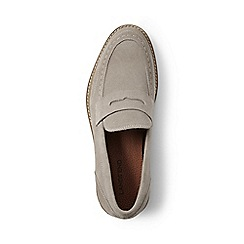 Lands' End - Beige suede penny loafers
