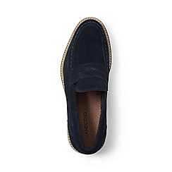 Lands' End - Blue suede penny loafers