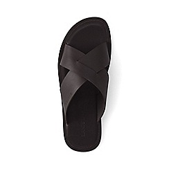 Lands' End - Brown cross-strap leather sandals