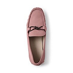 Lands' End - Pink suede moccasin loafers