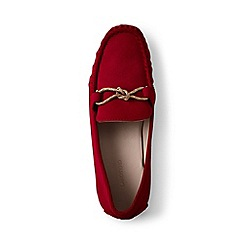 Lands' End - Red suede moccasin loafers