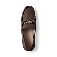 Lands' End - Brown suede moccasin loafers