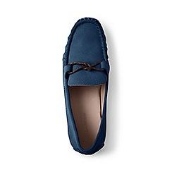 Lands' End - Blue suede moccasin loafers