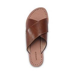 Lands' End - Brown crossover slip-on sandals