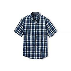 Lands' End - Blue tall madras shirt