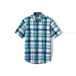 Lands' End - Blue tall madras shirt