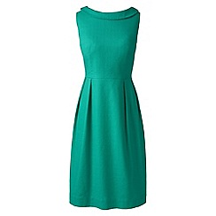 Lands' End - Green regular portrait collar dress