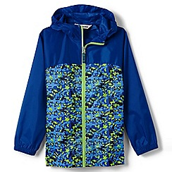 Lands' End - Blue boys' navigator packable rain coat