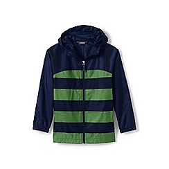 Lands' End - Boys' green navigator packable rain coat