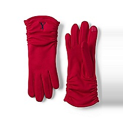 Lands' End - Red cashtouch ruched ez touch glove