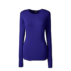 Lands' End - Purple thermaskin heat natural crew neck top