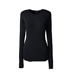 Lands' End - Black thermaskin heat natural crew neck