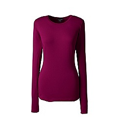 Lands' End - Red thermaskin heat natural crew neck