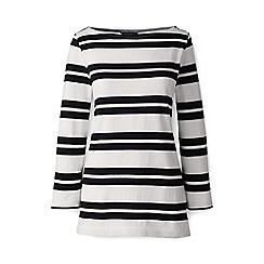 Lands' End - Multi regular striped three quarter sleeve top