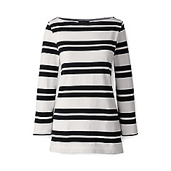 Lands' End - Petite Multicoloured striped three quarter sleeve top