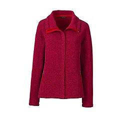 Lands' End - Red sweater fleece jacket