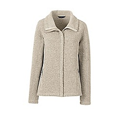 Lands' End - Beige sweater fleece jacket
