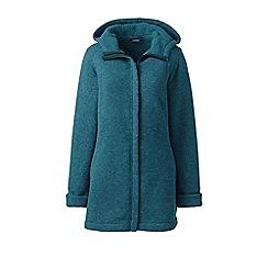 Lands' End - Green sweater fleece hooded parka