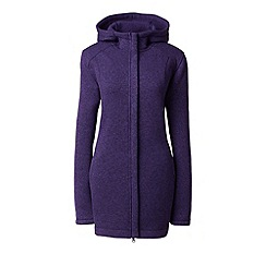 Lands' End - Purple sweater fleece hooded parka