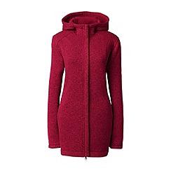 Lands' End - Red sweater fleece hooded parka