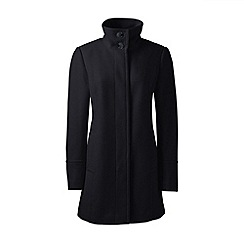 Lands' End - Black wool blend parka