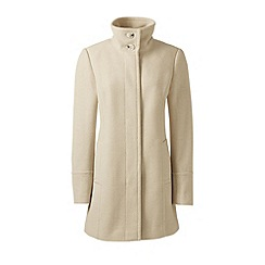 Lands' End - Cream wool blend parka