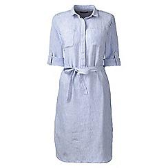 Lands' End - Blue petite linen shirtdress