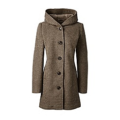 Lands' End - Brown textured wool blend parka