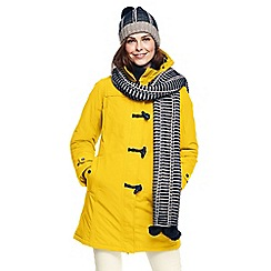 Lands' End - Yellow squall duffle coat