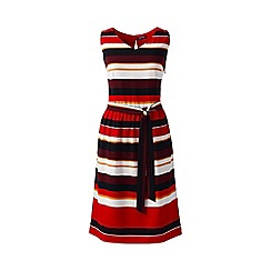 Lands' End - Red sleeveless woven crepe dress