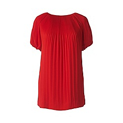 Lands' End - Red accordian pleat top