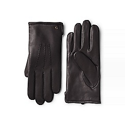 Lands' End - Brown cashmere lined leather gloves