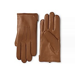 Lands' End - Beige cashmere lined leather gloves