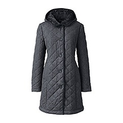 Lands' End - Grey quilted wool blend coat