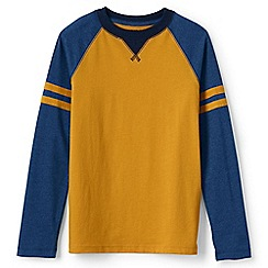 Lands' End - Gold boys' colourblock tee