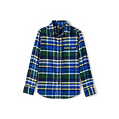 Lands' End - Toddler boys' blue long sleeve flannel shirt