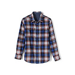 Lands' End - Cream boys' flannel shirt