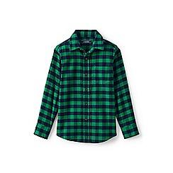Lands' End - Boys' green flannel shirt