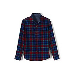 Lands' End - Blue boys' flannel shirt