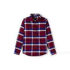 Lands' End - Boys' red flannel shirt