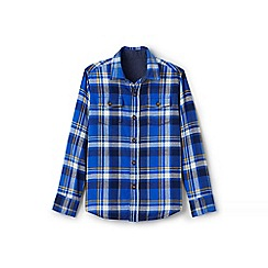 Lands' End - Boy's blue flannel shirt