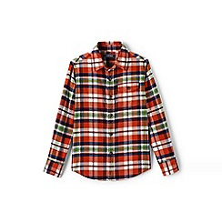 Lands' End - Boys' orange flannel shirt