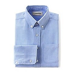 Lands' End - Boys' toddler blue washed oxford long sleeve shirt